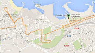 Mapa Bicicletada 05-04-2015 - Gijón - 30 Días en Bici - Emulsa Medioambiente - Asturies ConBici