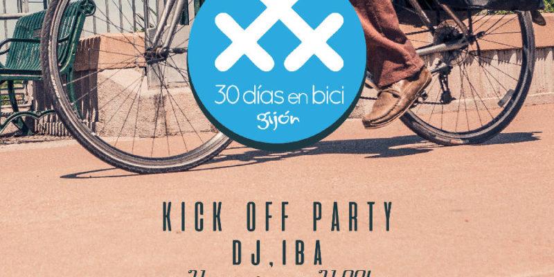 cartel 2017 Kick off party and ride en Gijón - 30 Días en Bici