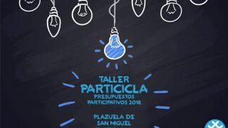 Cartel PartiCicla - Proceso participativo presupuestos ciclistas 2018 - 30 Días en Bici Gijón