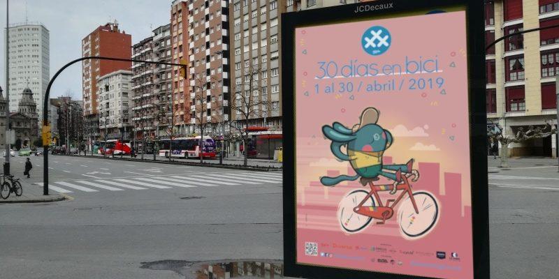 MUPI Cartel 30DEB 2019 - 30 dias en bici Gijon