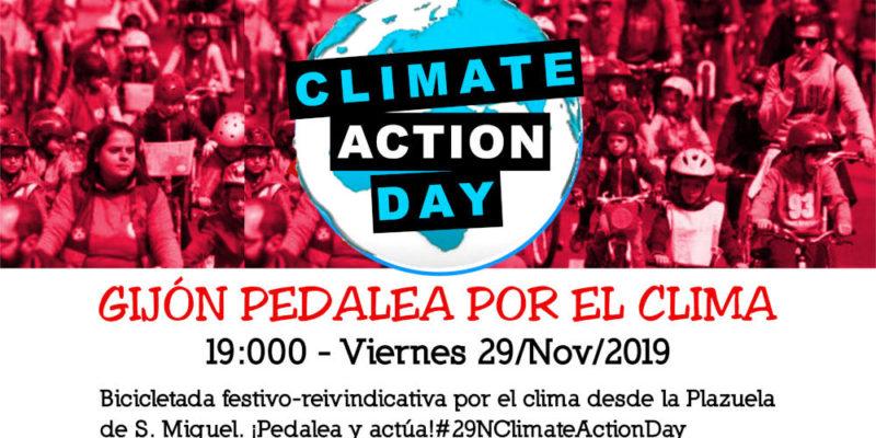 Banner 9N Bicicletada por el Clima en Gijón. Climate Action Day - 30 Días en Bici