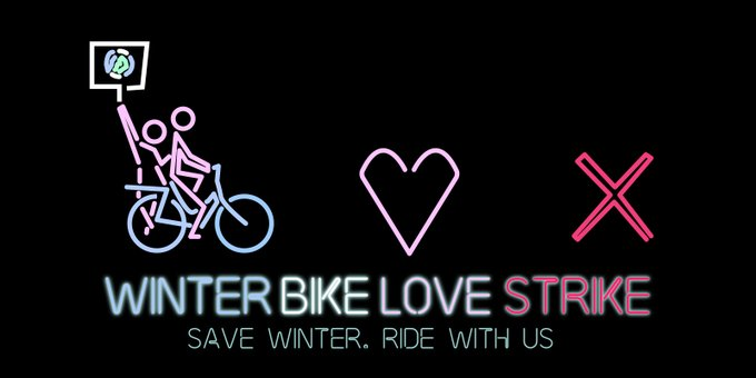 Poster del Winter Bike To Work Day 2020 - 30 Días en Bici