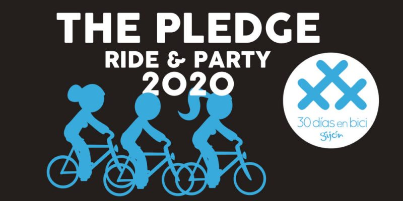 Cartel de The Pledge ride & party de 30 Días en Bici Gijón en Toma 3