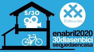 Banner de cine para quedateencasa - 30 días en bici