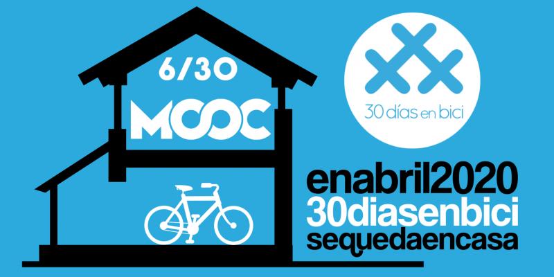 """bANNER de MOOC """"Hacia una economía verde: Ciudades sostenibles"""" para quedateencasa - 30 días en bici"""