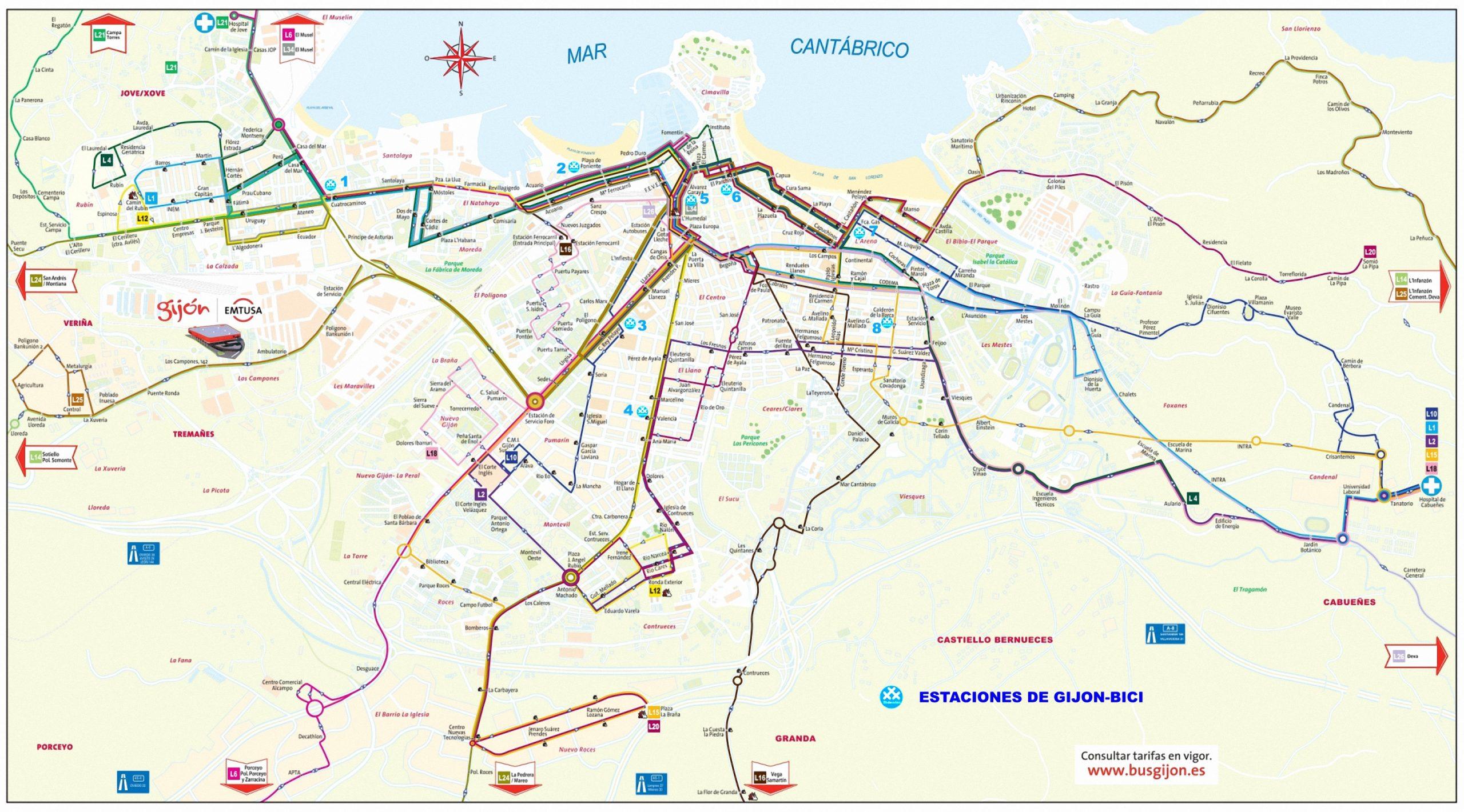 Mapa Carril Bici Gijon.Concurso Gijon Bus Ride 2020 Tercer Reto Intermodal 30 Dias En Bici