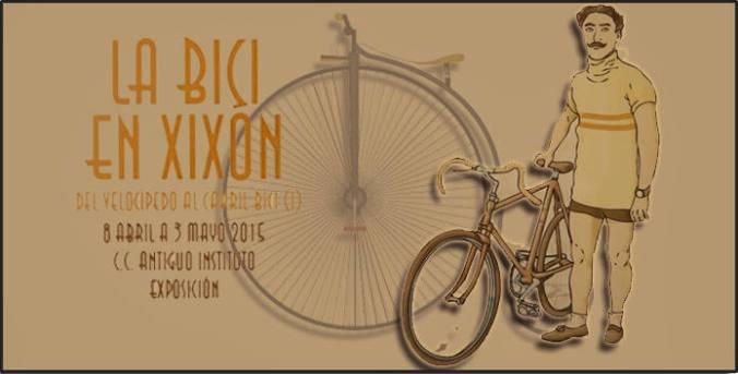 Banner expo la bici en Xixón - Rodando por la historia ciclista de Gijón - 30 Días en Bici Gijón