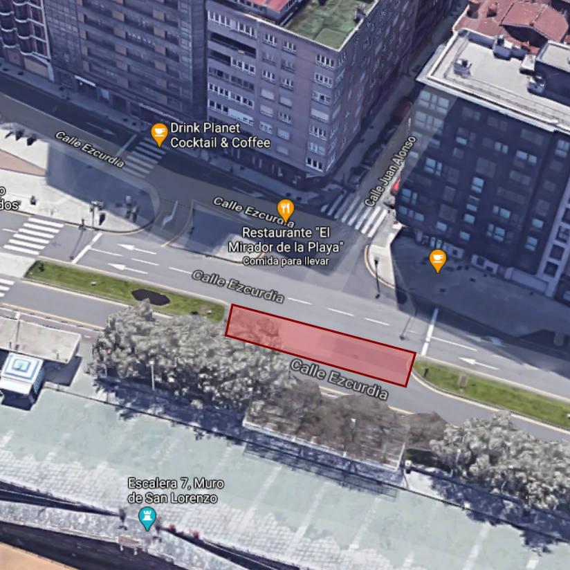 Plano de localización zona ITBicis - inspección SEM2020 - - 30 DÍAS EN BICI GIJON