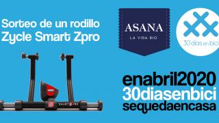 Banner con foto del regalo del Sorteo con Asana Bio de un rodillo Zycle Smart Zpro… ¡Día 22 de #30diasenbici! - 30 Días en Bici