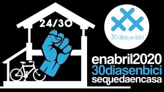 Banner del Día 24 de #30diasenbici. Acción Global Por El Clima 24A - 30 Días en Bici
