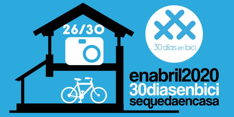 """Banner del Día 25 de #30diasenbici. """"Desempolva tu bici e imita a un famoso"""" #BikesForOurPlanet - 30 Días en Bici"""