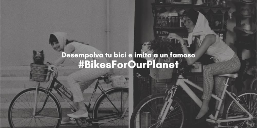 "Foto de audrey hepburn en bici - ""Desempolva tu bici e imita a un famoso"" #BikesForOurPlanet  - 30 Días en Bici"