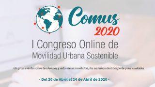 Banner del I Congreso Online de Movilidad Urbana Sostenible COMUS 2020 - 30 días en bici