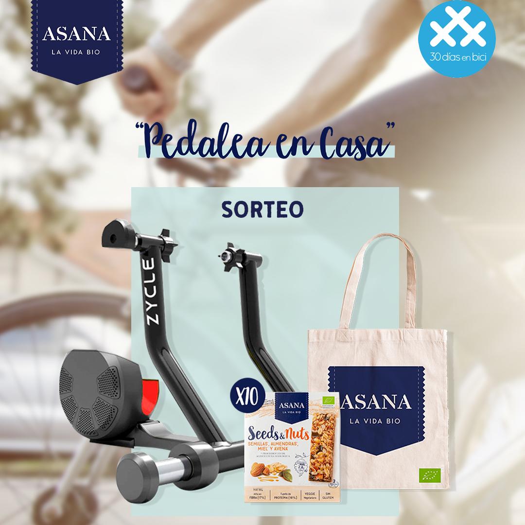 Anuncio Sorteo con Asana Bio de un rodillo Zycle Smart Zpro… ¡Día 22 de #30diasenbici! - 30 Días en Bici