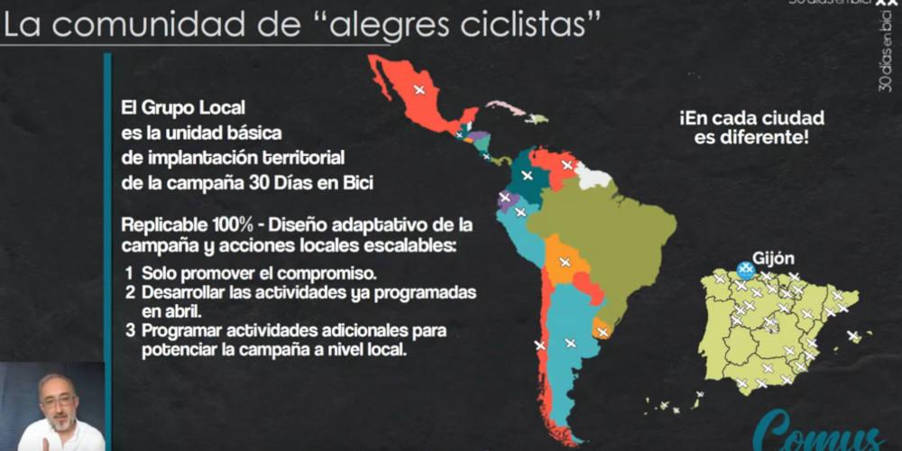 Diapositiva sobre los Grupos locales 30DEB Día 29 de #30diasenbici. ¿Cuánto sabes de 30 Días en Bici?