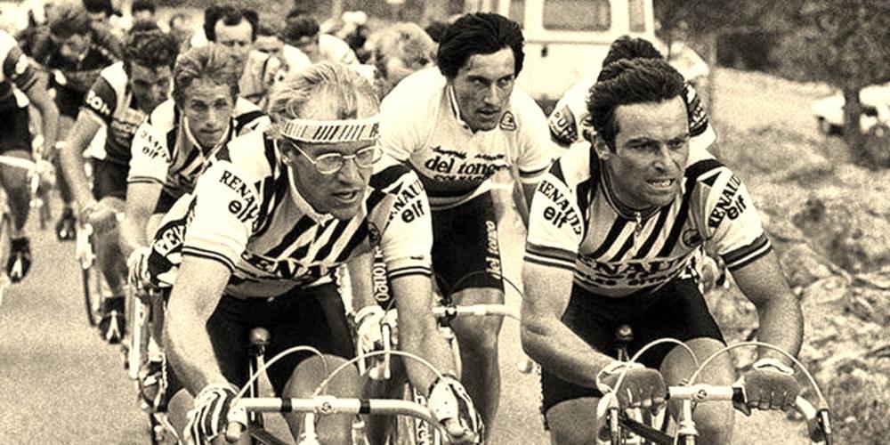 Foto de Hinault y Fignon. Día 13 de #30díasenbici. Un poco de literatura ciclista - 30 días en bici