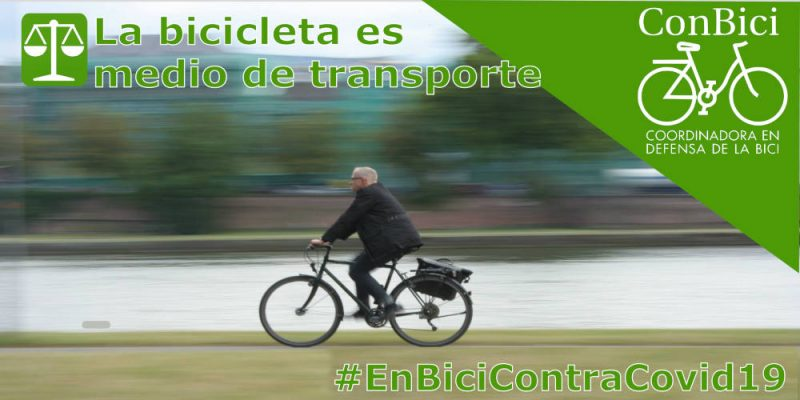 Foto de persona con traje enbicialtrabajo - 30DEB #EnBiciContraCovid19 - 30 días en bici