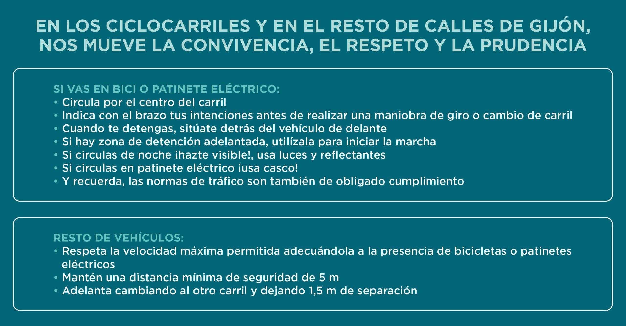 Consejos campaña 'Muévete por el ciclocarril' - 30 Días en Bici Gijón