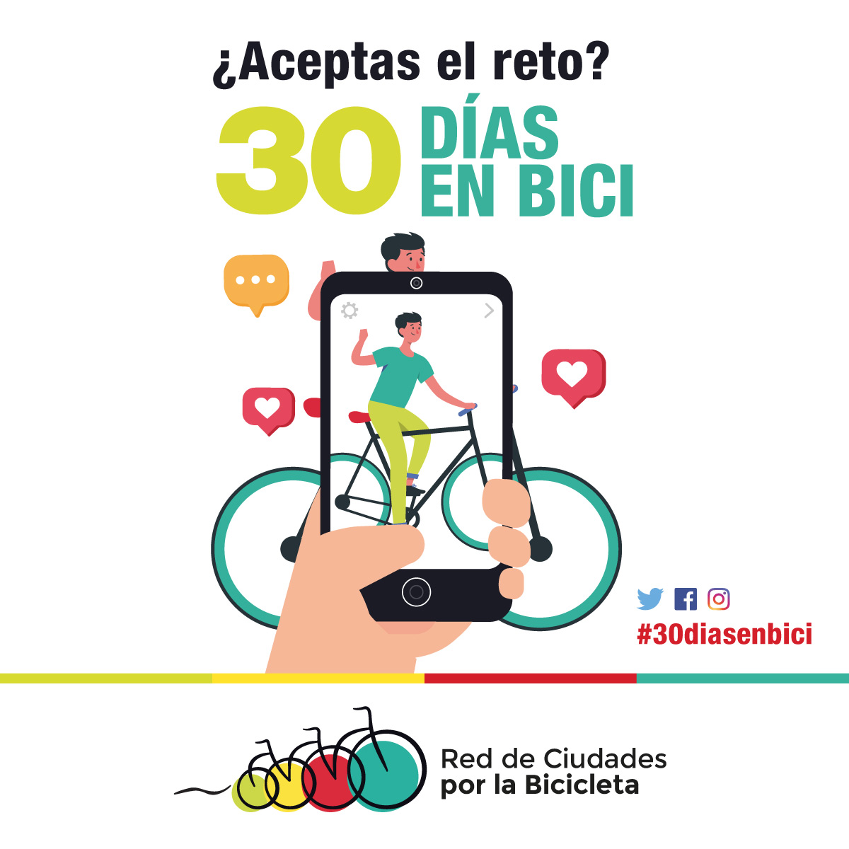 La Red de Ciudades por la Bicicleta será aliada de 30DEB en septiembre 2020 - 30 Días en Bici