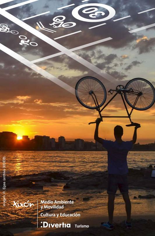 Portada mapa ciclista - Verano sobre Ruedas - Biciescuelas - 30 Días en Bici Gijón