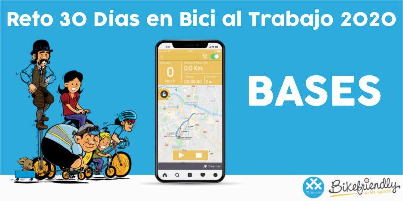 Banner Bases Reto 30 Días en Bici al Trabajo 2020 - 30 Días en Bici
