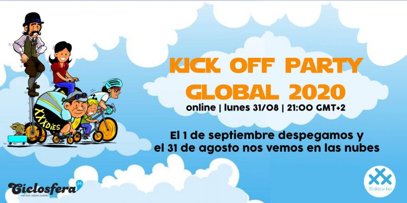 Banner del kick off party global 2020 de 30 Días en Bici