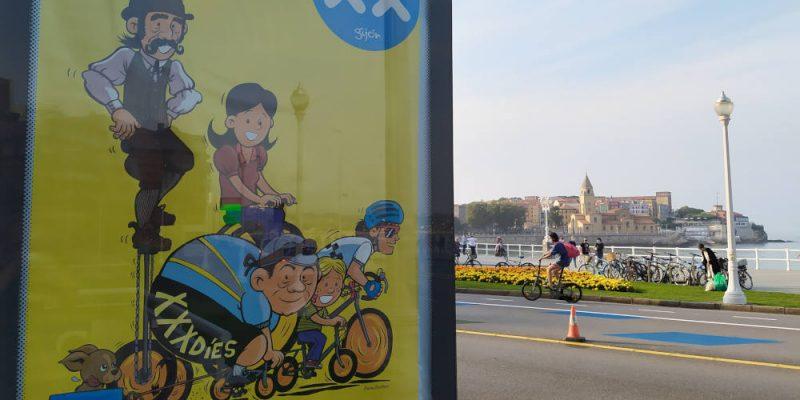 Foto del MUPI de 30DEB en Gijón - Final de 30 Días en Bici Gijón 2020