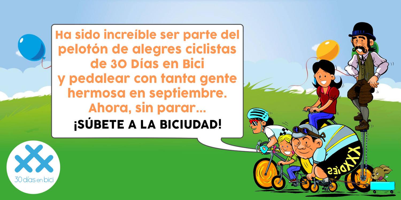 Imagen comic de despedida 2020 - ¡Hemos completado nuestros 30 Días en Bici 2020! - 30 Días en Bici