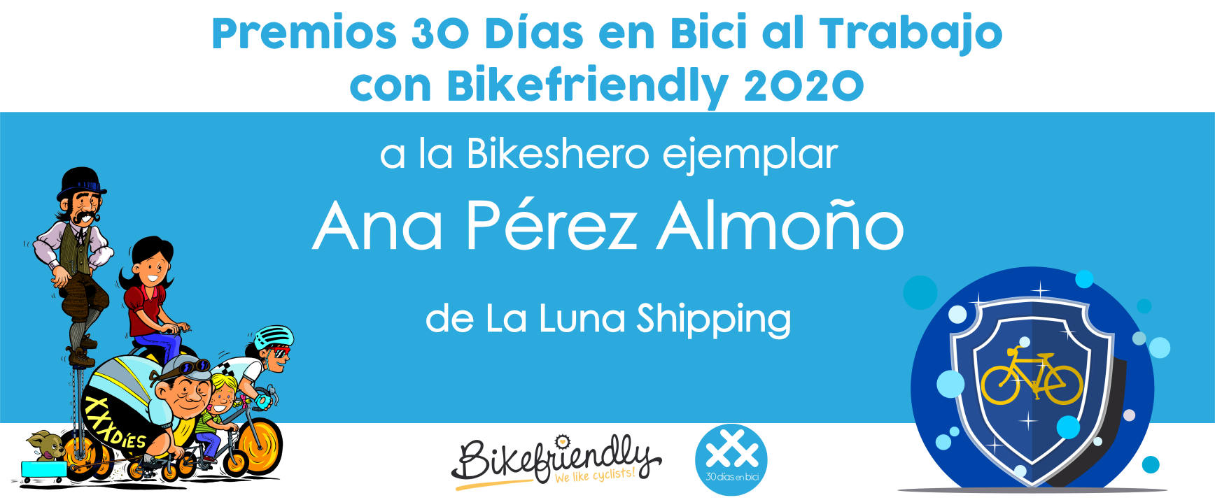 Premio Ana P. Almoño Bikeshero 2020 - Premios 30 Días en Bici al Trabajo con Bikefriendly 2020