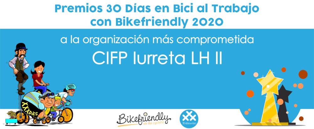 Premio Iurreta LHII Premios 30 Días en Bici al Trabajo con Bikefriendly 2020