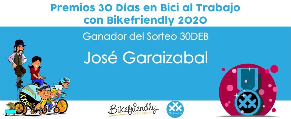 Premio sorteo 30DEB 2020 - Premios 30 Días en Bici al Trabajo con Bikefriendly 2020
