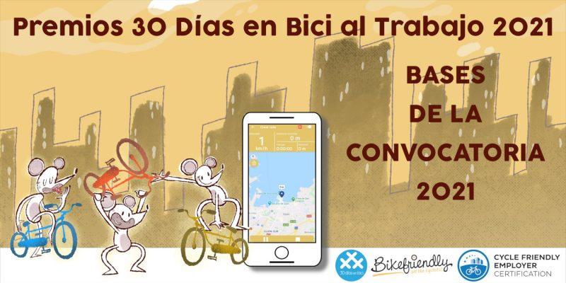 Bases Premios 30 Días en Bici al Trabajo con Bikefriendly 2021