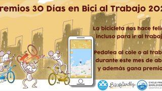 Banner introducción de los II Premios 30 Días en Bici al Trabajo con Bikefriendly 2021