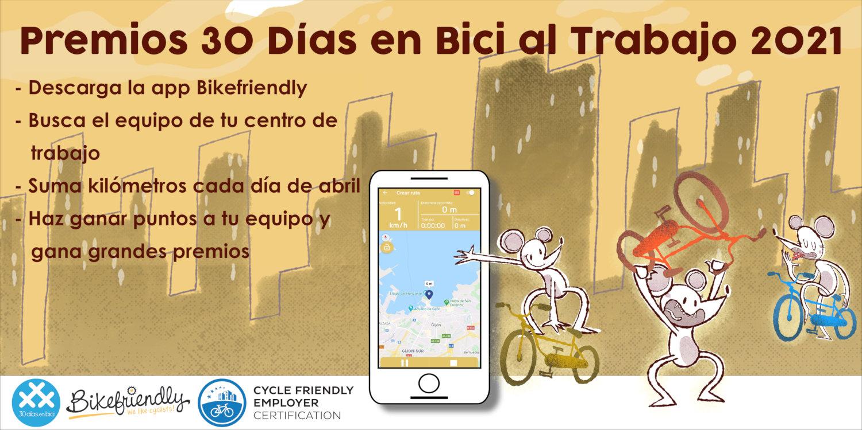 Gráfico con procedimiento II Premios 30 Días en Bici al Trabajo con Bikefriendly 2021