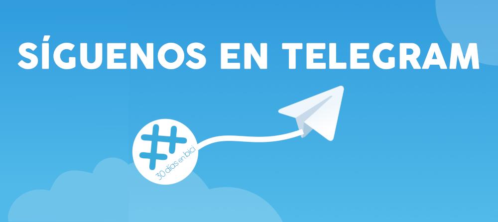 Banner con enlace al Nuevo canal de Telegram de 30 Días en Bici