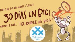 Banner de ¡Y llegan los 30 Días en Bici a Gijón en primavera 2021!