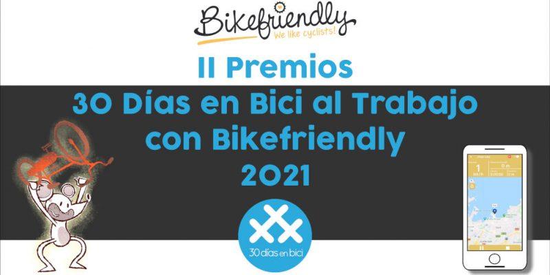 Banner del Fallo de los II Premios 30 Días en Bici al Trabajo con Bikefriendly 2021