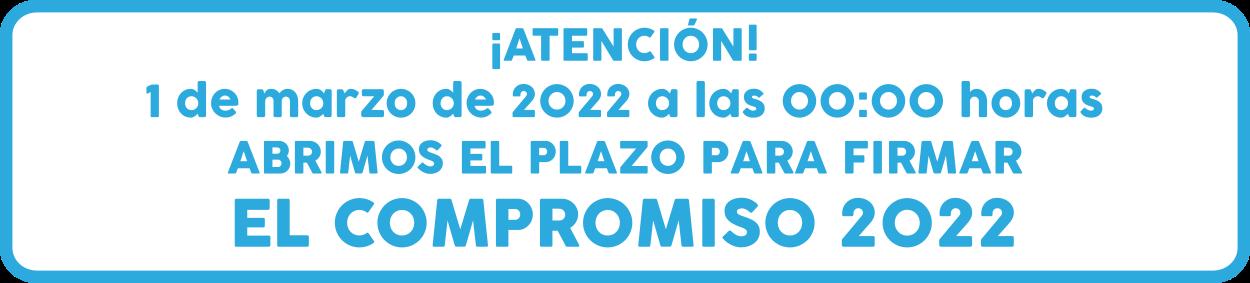 Banner aviso apertura del El Compromiso 30DEB 2021 el 1 de marzo