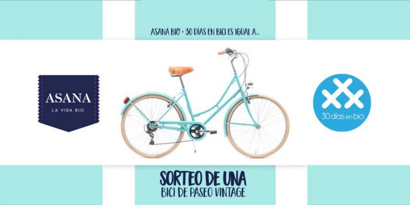 Imagen con la bicicleta que sortea Asana Bio te regala una bicicleta para celebrar los #30diasenbici 2021