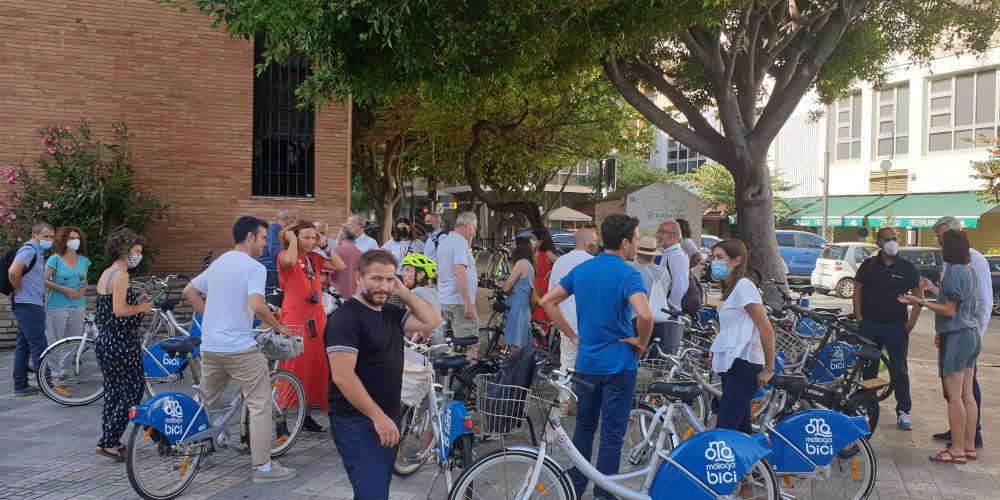 Foto de la visita técnica en bici del II Encuentro de la Bicicleta Urbana de Málaga - 30 Días en Bici